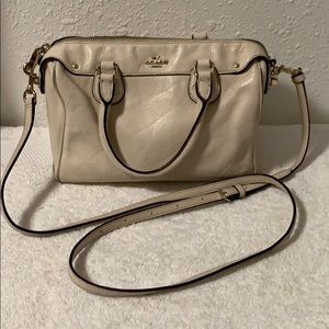 Coach small leather satchel crossbody